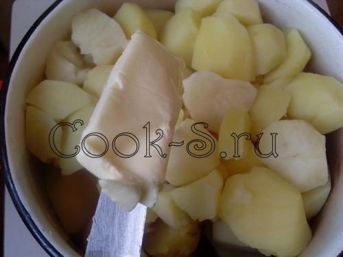 картофельное пюре - масло