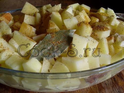 Картошка кубиками в духовке