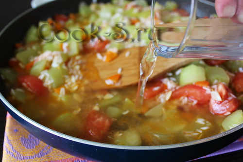 Как приготовить рагу из овощей с рисом