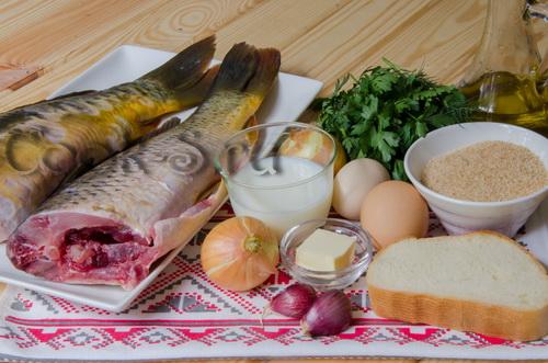 котлеты из речной рыбы - ингредиенты