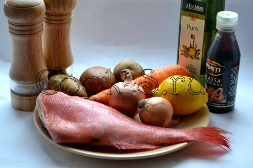 красный окунь в духовке - ингредиенты