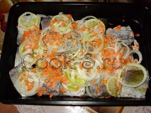 рыба под сливочным соусом - залить соусом