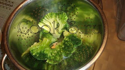 рыба запеченная в духовке - брокколи