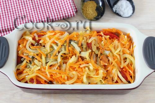 овощи с маслом