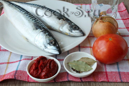 скумбрия в томатном соусе - ингредиенты