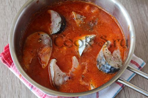 скумбрия в томатном соусе фото