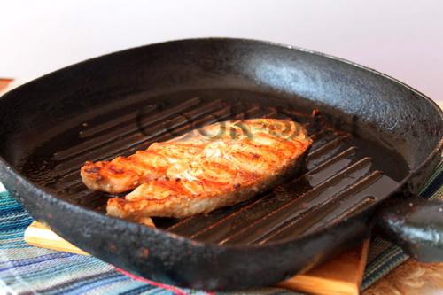 стейк из семги на сковороде гриль рецепт с фото