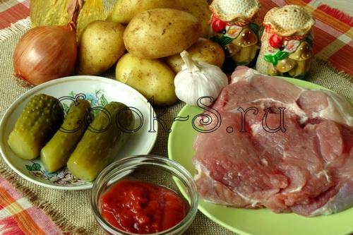 азу из свинины - ингредиенты