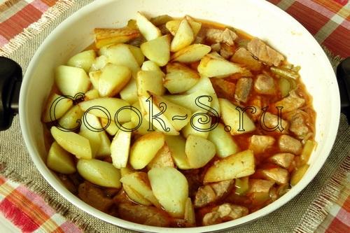 азу из свинины с картофелем