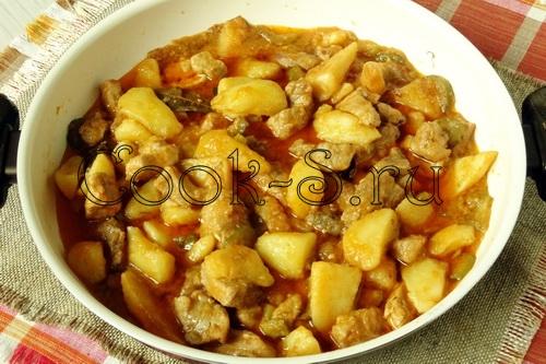 азу из свинины с картошкой