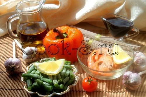 гречневая лапша с креветками - ингредиенты