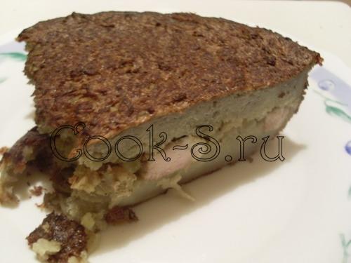 картофельная бабка с мясом