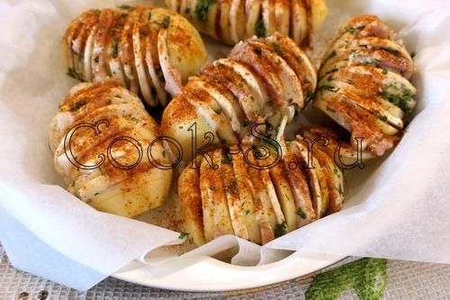 Картошка гармошка в фольге в духовке