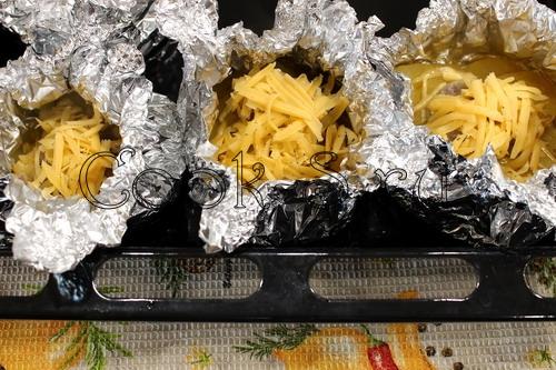 картошка с фаршем в фольге в духовке рецепт с фото