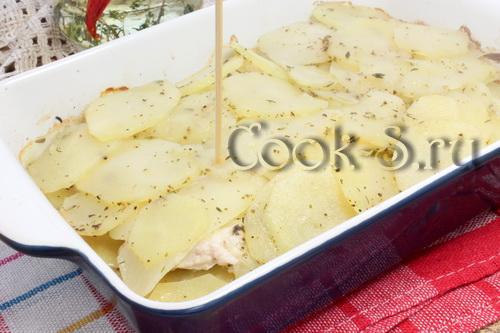картошка с куриным фаршем в духовке