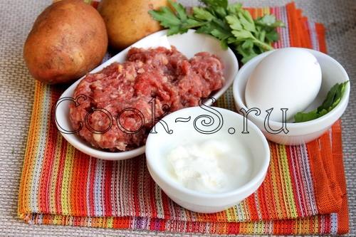 картошка запеченная с фаршем - ингредиенты