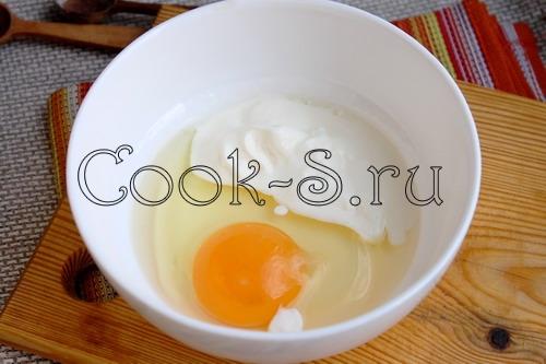 сметана с яйцом