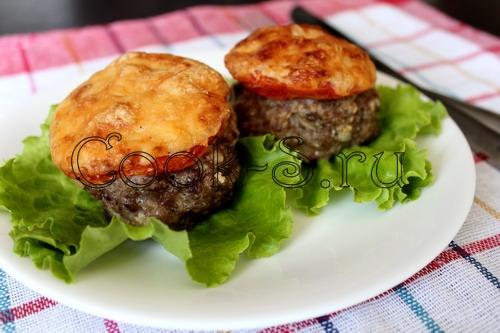 Котлеты с сыром и помидорами в духовке рецепт пошаговый