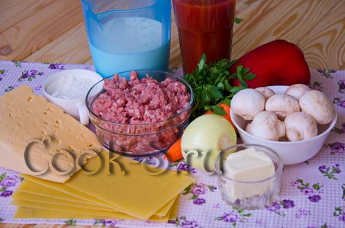 Лазанья с фаршем бешамель в домашних условиях в духовке