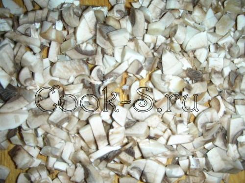 макароны фаршированные - грибы