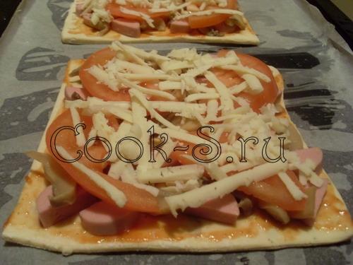 Можно делать пиццу из слоеного теста