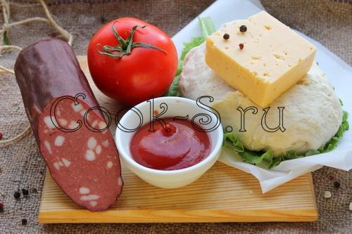 пицца с сыром и колбасой рецепт с фото пошагово
