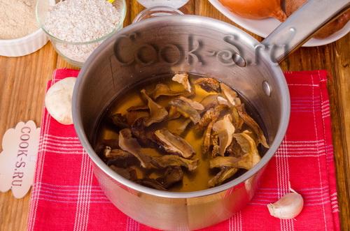 Рецепт блюд из сухих грибов пошагово