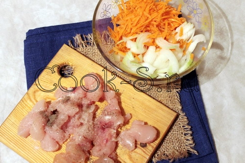 рис курица овощи рецепт