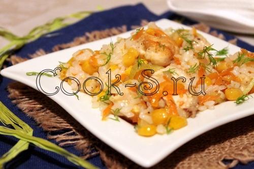 Рис с кукурузой и курицей
