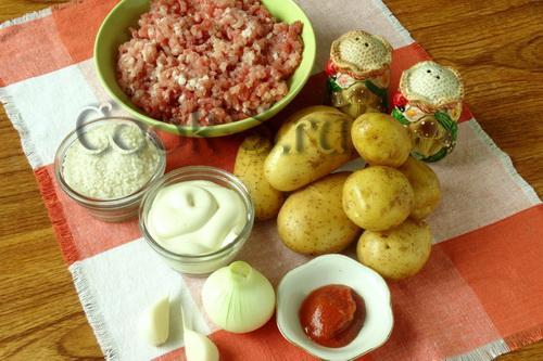 тефтели с картошкой - ингредиенты