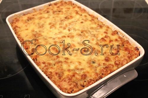запеканка из спагетти с фаршем в духовке с фото