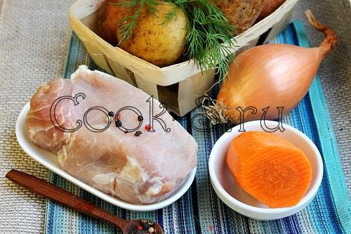 жаркое из свинины с картошкой - ингредиенты