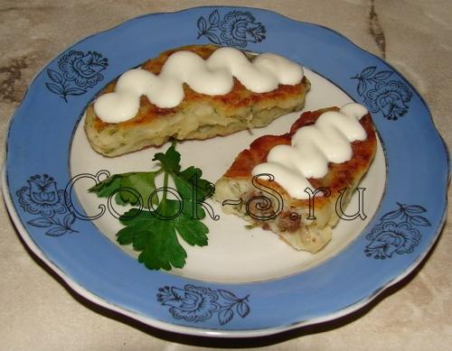 зразы картофельные со сметаной