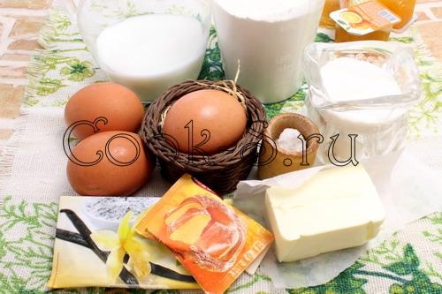 бисквитный пирог - ингредиенты