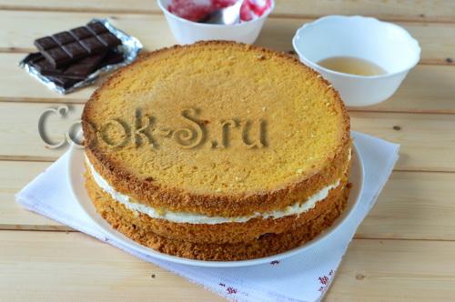 как испечь бисквитный торт в домашних условиях рецепт с фото