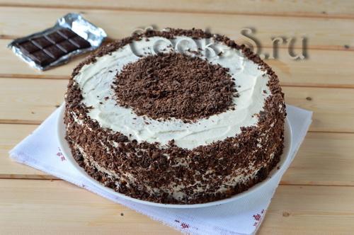 бисквитный торт очень вкусный и простой рецепт с фото пошагово