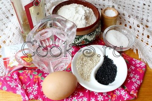 булочки с кунжутом - ингредиенты