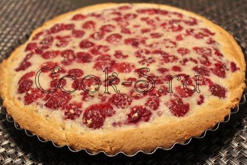 Открытый пирог с малиной рецепт пошаговый рецепт