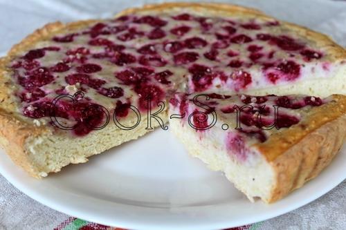 Пирог с малиной рецепт пошаговый фото рецепт