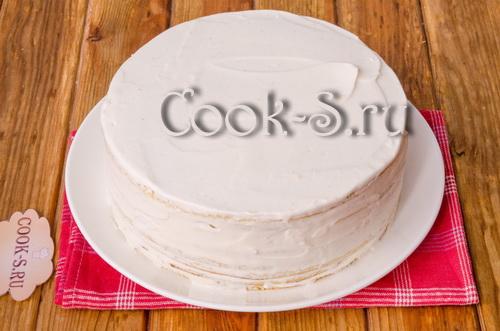медовый торт на сковороде со сметанным кремом