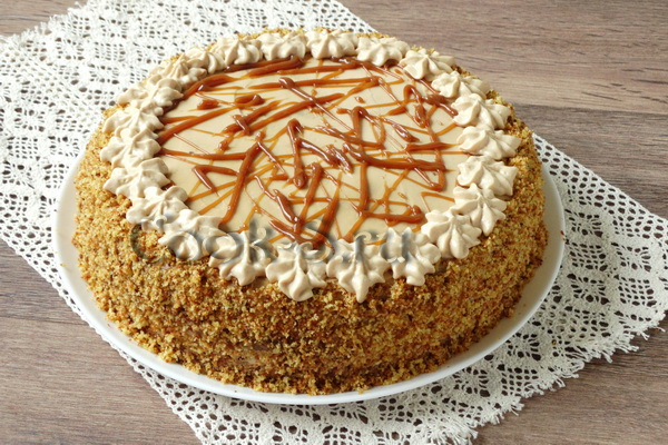Медовый торт рецепт с пошаговым со сметанным кремом на 20 человек