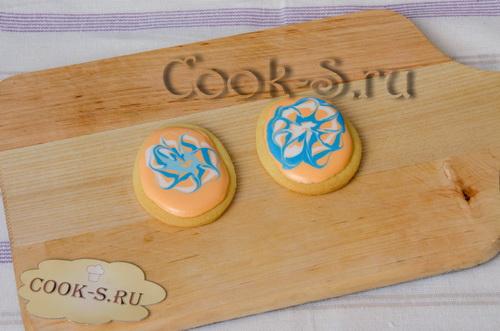 печенье с глазурью на пасху