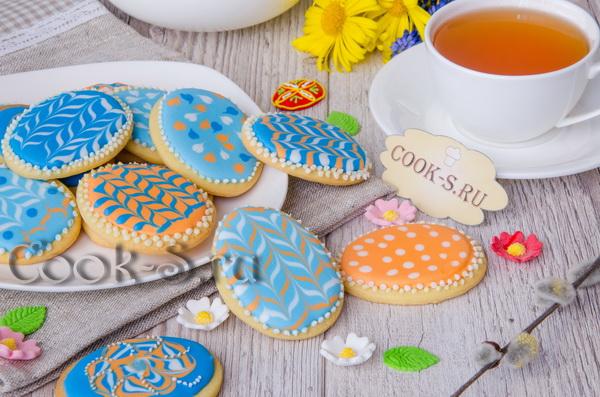 пасхальное печенье с глазурью