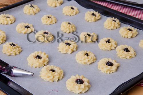 печенье курабье с джемом