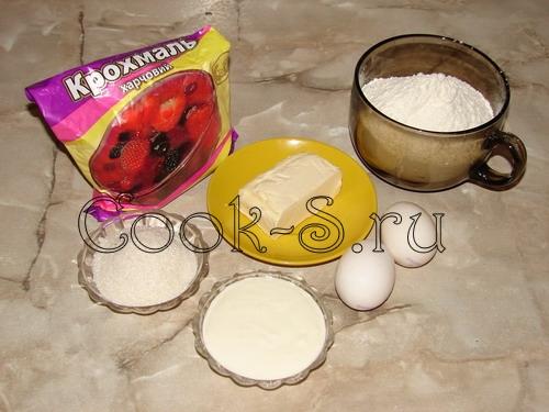 печенье орешки со сгущенкой - ингредиенты для теста