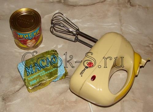 печенье орешки со сгущенкой - ингредиенты для крема