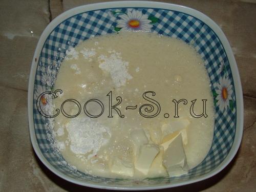 печенье орешки со сгущенкой - добавить остальные ингредиенты