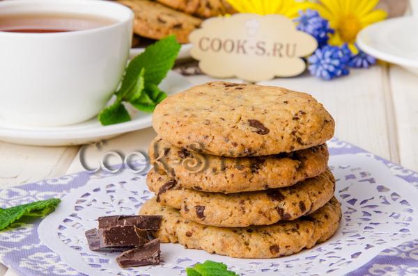 печенье с шоколадной крошкой рецепт с фото