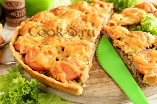 Пирог с сосиской и картошкой рецепт с в