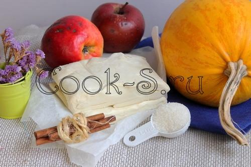 пирог с тыквой и яблоками - ингредиенты